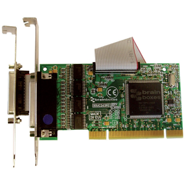 Brainboxes 4xRS232 PCI Serial Port Card with LPT Parallel Port for Printer UC-295