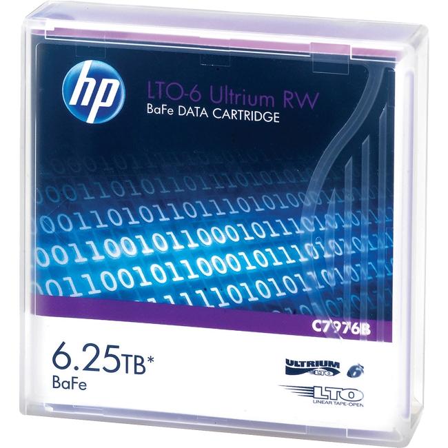 HP LTO-6 Ultrium 6.25 TB BaFe RW Data Cartridge C7976B