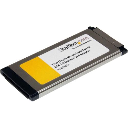 StarTech.com 1 Port Flush Mount ExpressCard SuperSpeed USB 3.0 Card Adapter ECUSB3S11