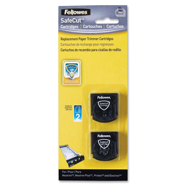 Fellowes SafeCut Rotary Trimmer Blades - 2Pk Straight 5411404