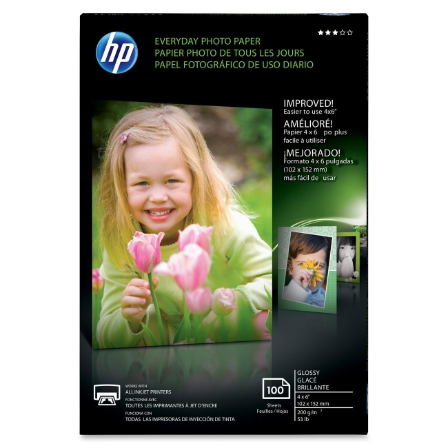HP Everyday Photo 4x6 Glossy Paper CR759A