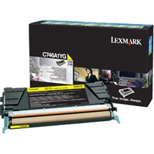 Lexmark C746,C748 Yellow Return Program Print Cartridge (6K) C746A4YG