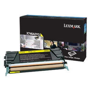 Lexmark X746, X748 Yellow Toner Cartridge X746A2YG