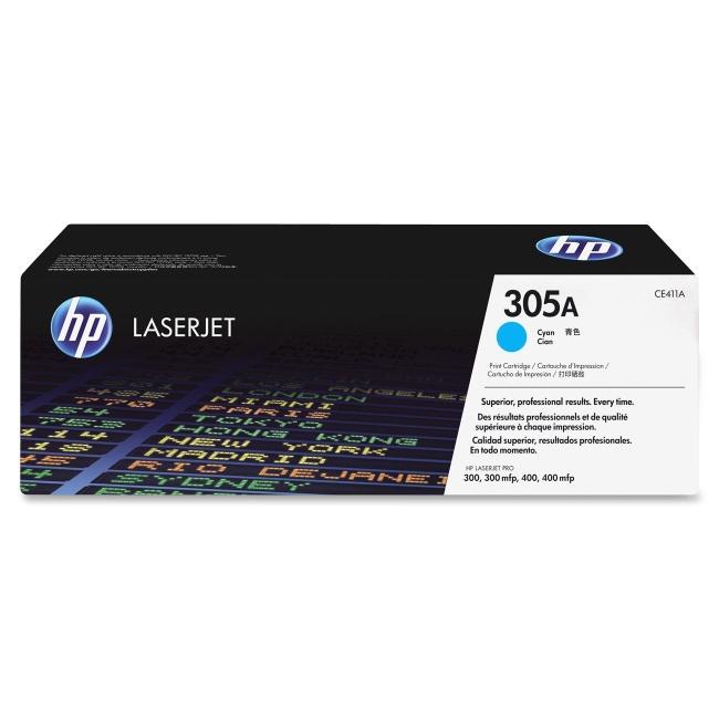 HP Cyan Original LaserJet Toner Cartridge CE411A 305A