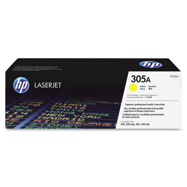 HP Yellow Original LaserJet Toner Cartridge CE412A 305A