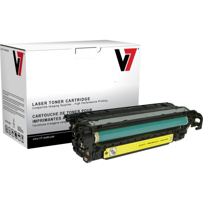 V7 Yellow Toner Cartridge, Yellow For HP Color LaserJet CM3530 MFP, CM3530FS MFP THY23525