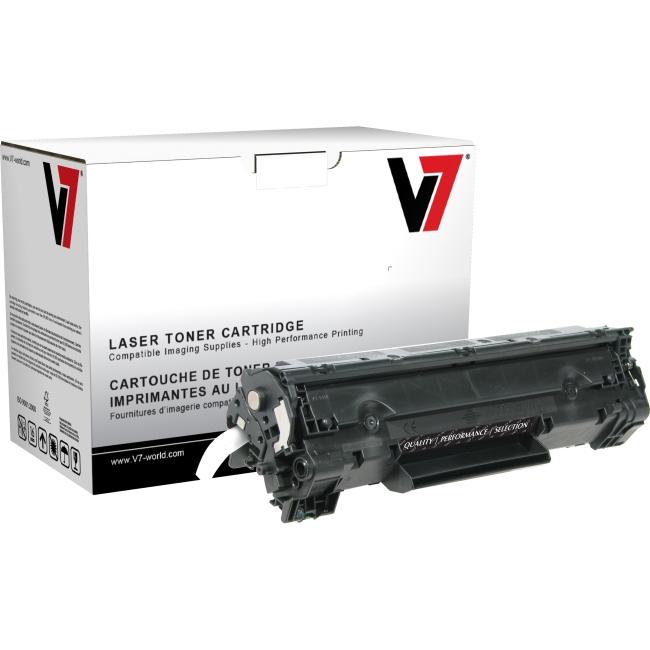V7 Black Toner Cartridge (High Yield) For HP LaserJet P1002, P1003, P1004, P1005 THK2435AJH