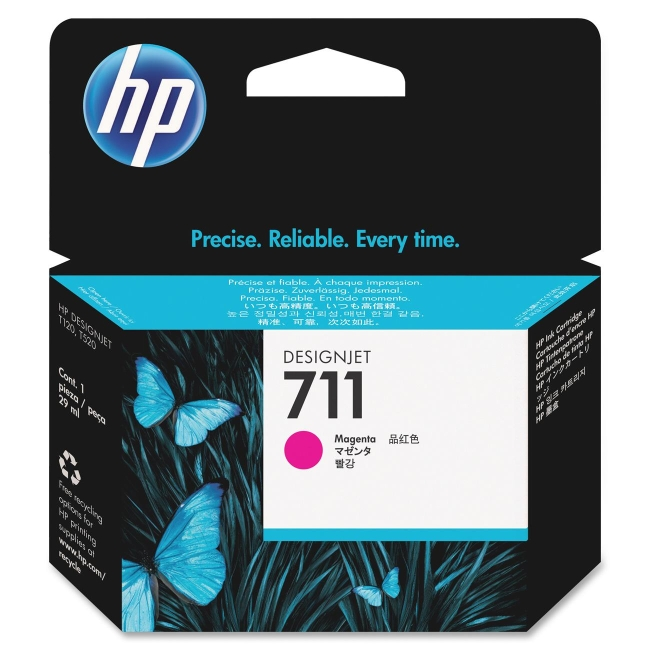 HP 29-ml Magenta Ink Cartridge CZ131A 711