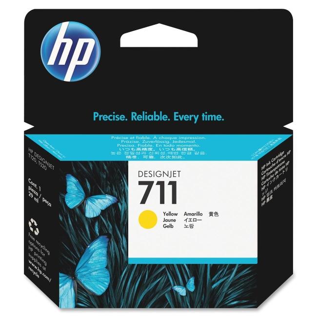 HP 29-ml Yellow Ink Cartridge CZ132A 711