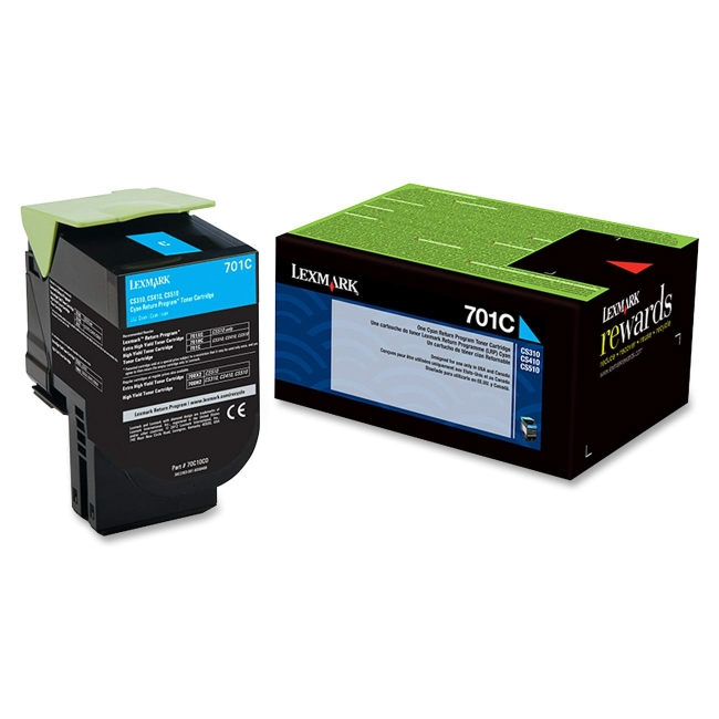 Lexmark Cyan Return Program Toner Cartridge 70C10C0 701C