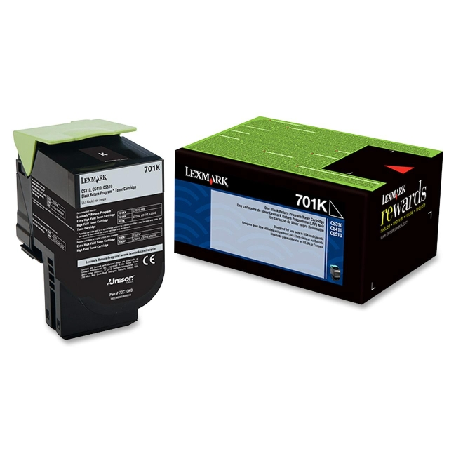 Lexmark Black Return Program Toner Cartridge 70C10K0 701K