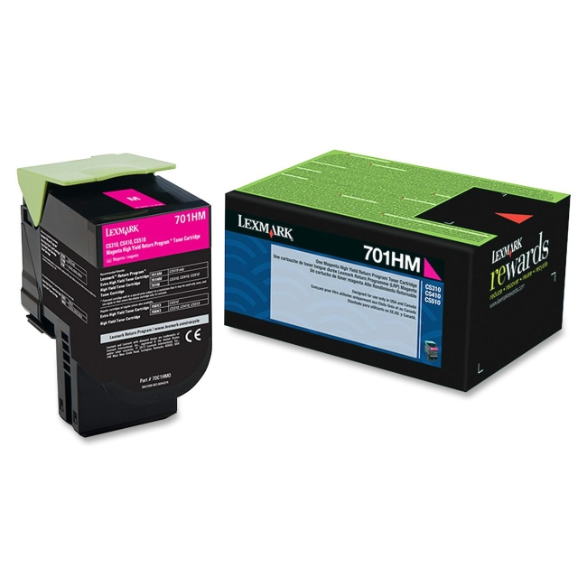 Lexmark Magenta High Yield Return Program Toner Cartridge 70C1HM0 701HM