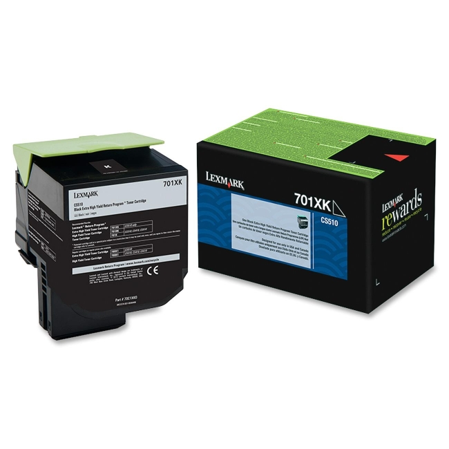 Lexmark Black Extra High Yield Return Program Toner Cartridge 70C1XK0 701XK
