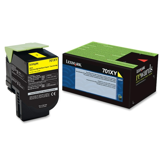 Lexmark Yellow Extra High Yield Return Program Toner Cartridge 70C1XY0 701XY