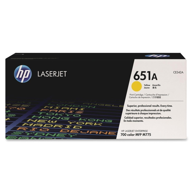 HP Yellow Original LaserJet Toner Cartridge CE342A 651A