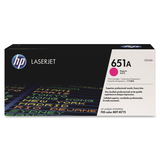HP Magenta Original LaserJet Toner Cartridge CE343A 651A
