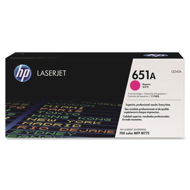 HP Magenta Original LaserJet Toner Cartridge CE343A 651A
