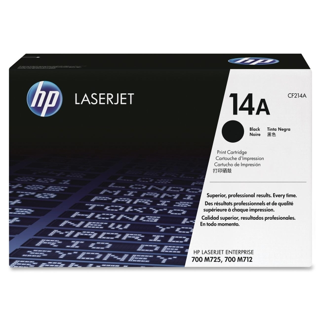 HP (CF2) Black Original LaserJet Toner Cartridge CF214A 14A