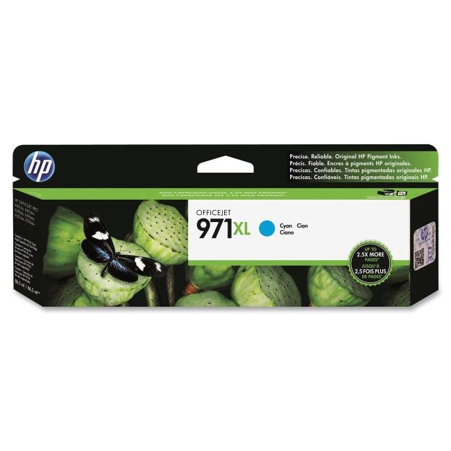 HP High Yield Cyan Original Ink Cartridge CN626AM 971XL