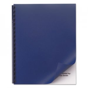 GBC Opaque Plastic Presentation Binding System Covers, 11 x 8-1/2, Navy, 50/Pack GBC2514494 2514494