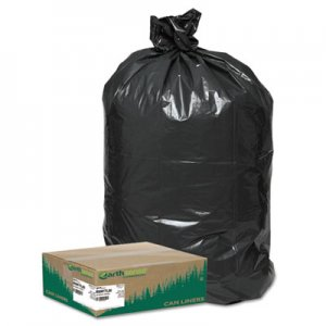 """Earthsense Commercial Linear Low Density Large Trash and Yard Bags, 33 gal, 0.9 mil, 32.5"""" x 40"""", Black"""