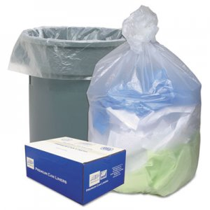 Ultra Plus High Density Can Liners, 55-60gal, 14 Microns, 38 x 60, Natural, 200/Carton WBIHD386014N WHD6014