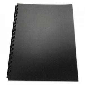 Swingline GBC 100% Recycled Poly Binding Cover, 11 x 8-1/2, Black, 25/Pack GBC25818 25818