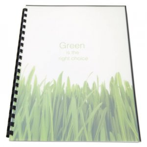 Swingline GBC 100% Recycled Poly Binding Cover, 11 x 8-1/2, Frost, 25/Pack GBC25817 25817