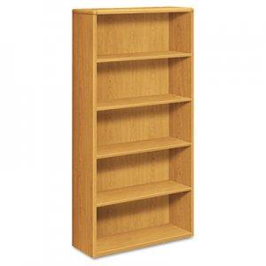 HON 10700 Series Wood Bookcase, Five Shelf, 36w x 13 1/8d x 71h, Harvest HON10755CC H10755.CC