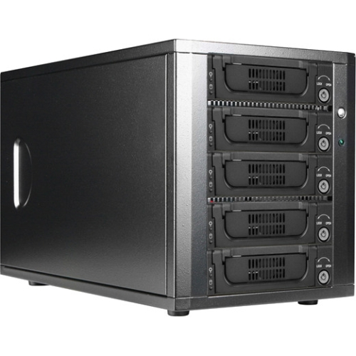 "iStarUSA 5-bay 3.5"" SAS/SATA eSATA-Port Multiplier Hotswap Enclosures DAGE540T7-PM"