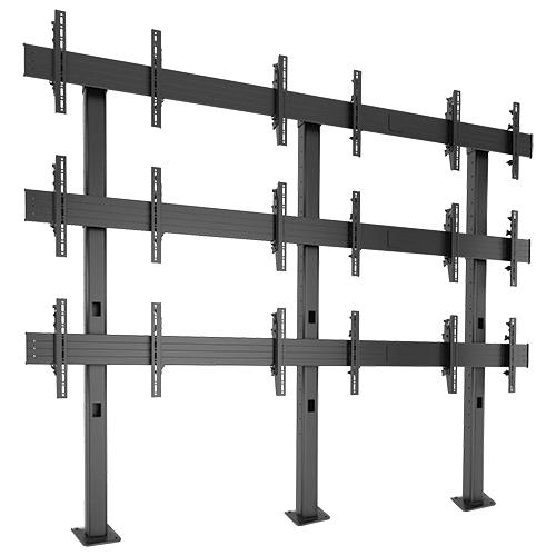 Chief FUSION 3 x 3 Micro-Adjustable Large Bolt-Down Freestanding Video Wall LBM3X3U