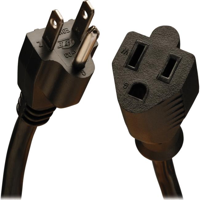 Tripp Lite 1-ft. 16AWG, 13A Power Extension Cord (NEMA 5-15R to NEMA 5-15P) P024-001-13A