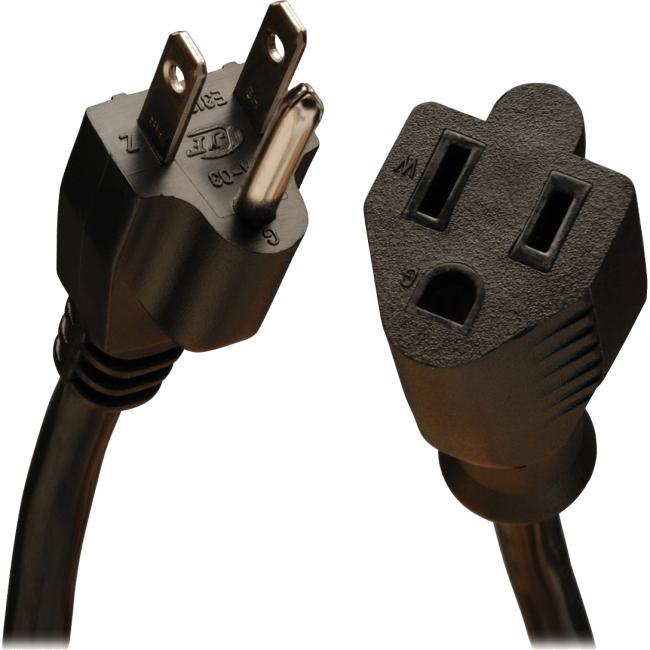 Tripp Lite 3-ft. 16AWG, 13A Medium Duty Power Extension Cord (NEMA 5-15R to NEMA 5-15P) P024-003