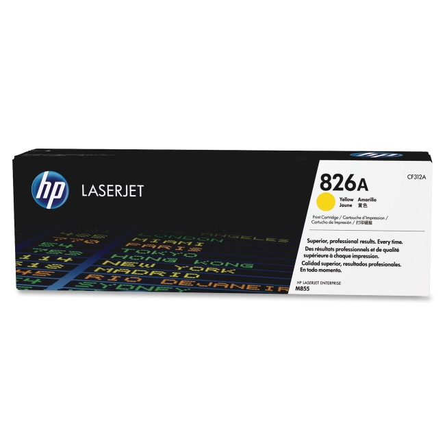 HP Yellow Original LaserJet Toner Cartridge CF312A 826A