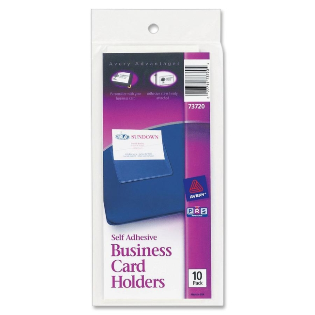 Avery Self-Adhesive Business Card Holder 73720