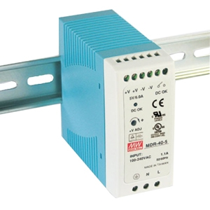 B+B 40W Single Output Industrial DIN Rail Power Supply MDR-40-24