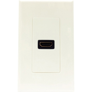 4XEM 1 Port/Outlet Female HDMI Wall Plate (White) 4XWALLHDMI1