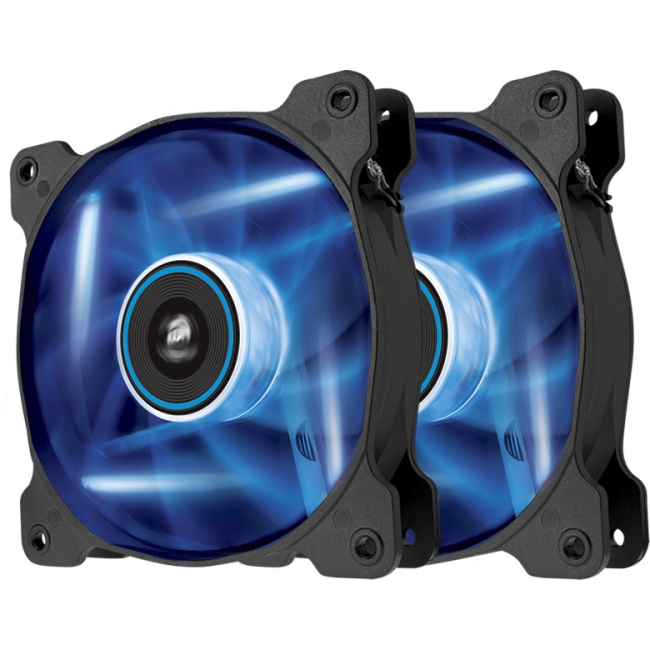 Corsair Air Series LED Blue Quiet Edition High Airflow 120mm Fan - Twin Pack CO-9050016-BLED AF120