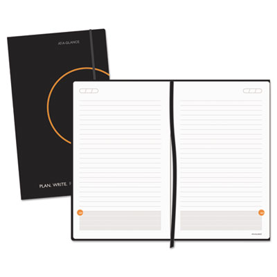 At-A-Glance Plan. Write. Remember. Perfect-Bound Planning Notebook, 5 x 8 1/4, Black AAG80612405 80612405