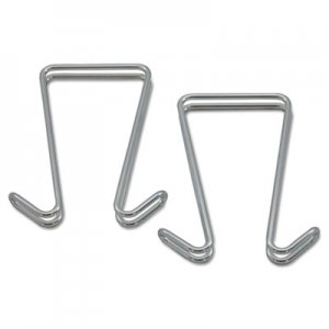Alera Double Sided Partition Garment Hook, Silver, Steel, 2/PK ALECH2SR