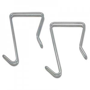 Alera Single Sided Partition Garment Hook, Silver, Steel, 2/PK ALECH1SR