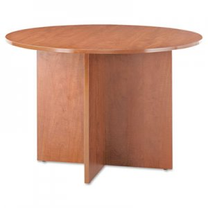 Alera Valencia Round Conference Table w/Legs, 29 1/2h x 42 dia., Medium Cherry ALEVA7142MC