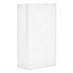 "Genpak Grocery Paper Bags, 7.06"" x 13.75"", White, 500 Bags BAGGW12500 51032"