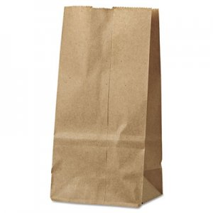 """Genpak Grocery Paper Bags, 4.31"""" x 7.88"""", Kraft, 500 Bags BAGGK2500 18402"""