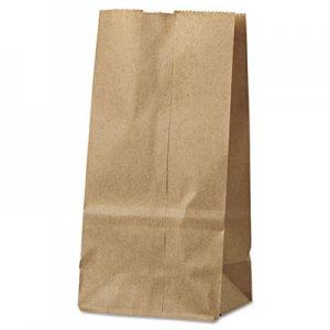 "Genpak Grocery Paper Bags, 30 lbs Capacity, #2, 4.31""w x 2.44""d x 7.88""h, Kraft"