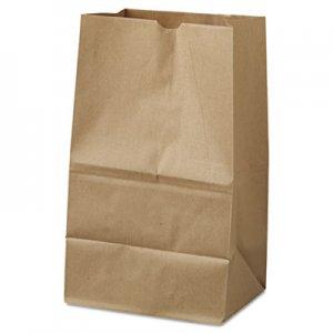 "Genpak Grocery Paper Bags, 40 lbs Capacity, #20 Squat, 8.25""w x 5.94""d x 13.38""h"