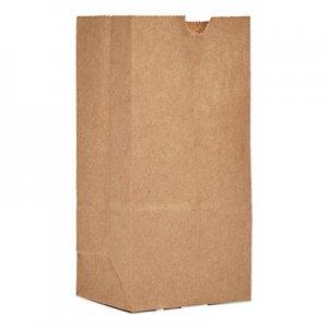 Genpak #1 Paper Grocery Bag, 30lb Kraft, Standard 3 1/2 x 7 3/8 x 6 7/8, 500