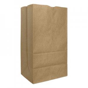 "Genpak Grocery Paper Bags, 57 lbs Capacity, #25, 8.25""w x 6.13""d x 15.88""h, Kraft"