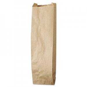 "Genpak Liquor-Takeout Quart-Sized Paper Bags, 4.25"" x 16"", Kraft, 500 Bags BAGLQQUART500 40036"