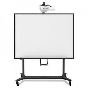 MasterVision Interactive Board Mobile Stand With Projector Arm, 76w x 26d x 86h, Black BVCBI350420 BI350420
